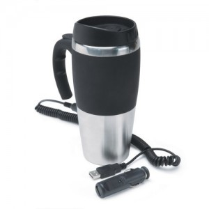 The Roadpro 12 volt stainless steel travel mug